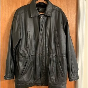 Leather 3/4 jacket size Large
